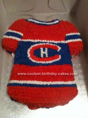 Homemade Montreal Canadians Cake