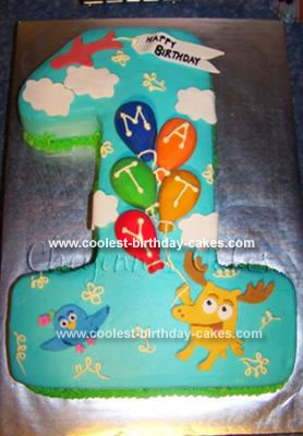 Homemade Moose a Moose and Zee Birthday Cake