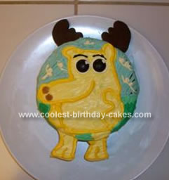 Awesome Coolest Moose A Moose Birthday Cake Funny Birthday Cards Online Overcheapnameinfo