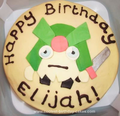 Homemade Moshi Monsters General Fuzuki Birthday Cake