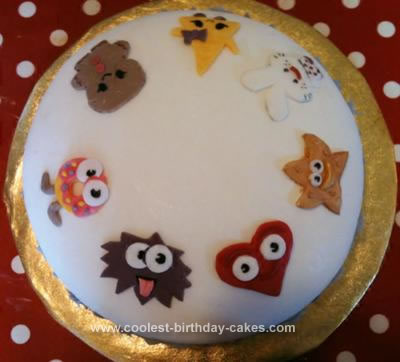 Homemade Moshi Monsters Moshling Cake
