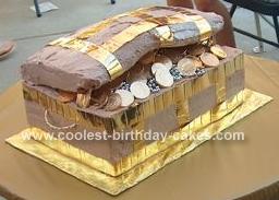 Homemade Most Creative Pirate Chest Birthday Cake