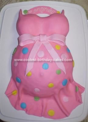 Homemade Mother To Be Cake