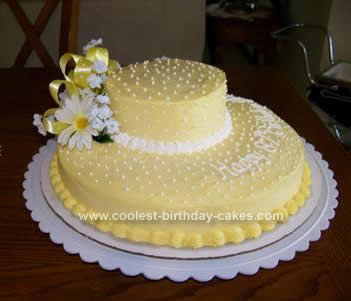 Homemade Mothers Bonnet Birthday Cake