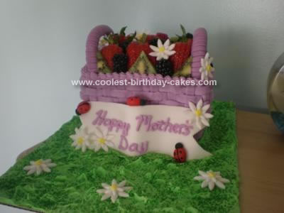 Homemade Mother's Day Cake
