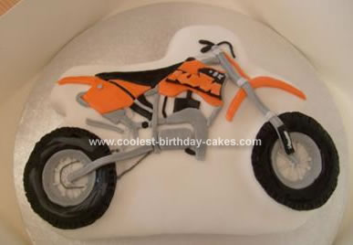 Homemade Motocross Bike Birthday Cake