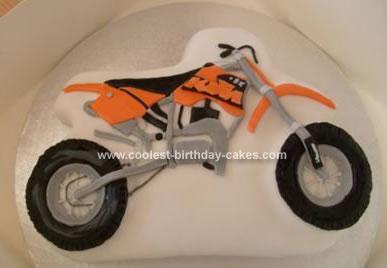 Fabulous Coolest Motocross Bike Birthday Cake Birthday Cards Printable Trancafe Filternl