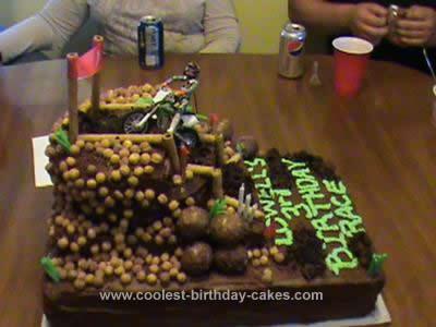 Homemade Motocross Birthday Cake