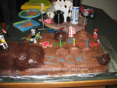 Homemade Motocross Birthday Cake