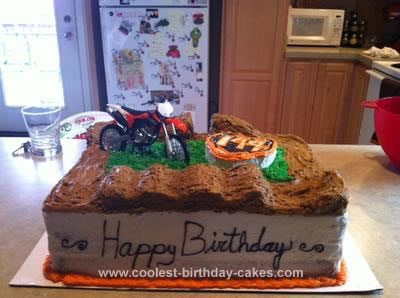 Admirable Coolest Homemade Motocross Supercross Cakes Funny Birthday Cards Online Overcheapnameinfo