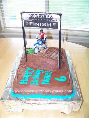 Homemade Motocross Cake