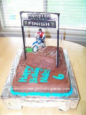 Homemade Motocross Cake