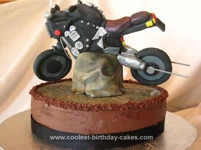 Homemade Motor Cycle Cake