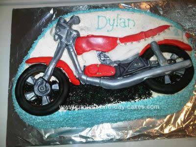 Homemade Motorbike Cake