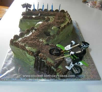 Homemade  Motorcross 7th Birthday Cake