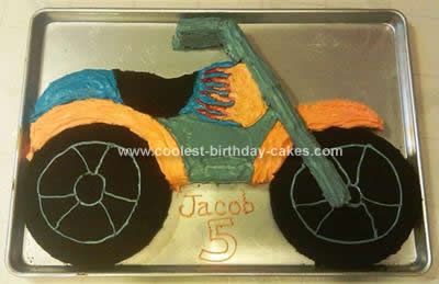 Homemade Motorcycle Cake