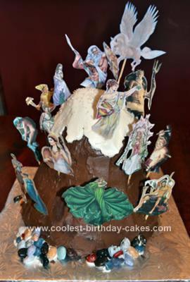 Homemade Mount Olympus Cake