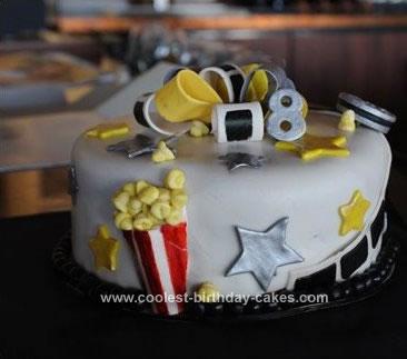 Homemade Movie Theater Birthday Cake