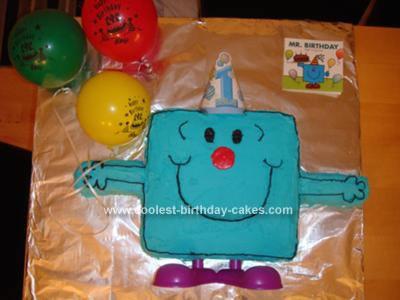 Homemade Mr. Birthday from Mr. Men Cake