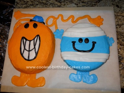 Homemade Mr. Men Birthday Cake