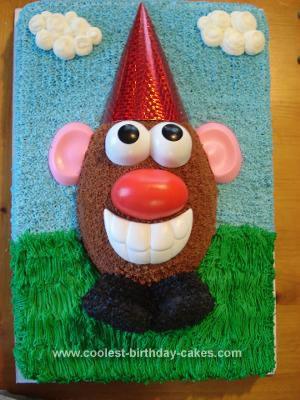 Excellent Cool Homemade Mr Potato Head Birthday Cake Personalised Birthday Cards Veneteletsinfo