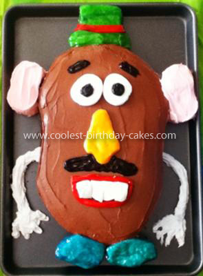 Homemade Mr. Potato Head Birthday Cake