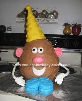 Excellent Coolest Mr Potato Head Cake Personalised Birthday Cards Veneteletsinfo