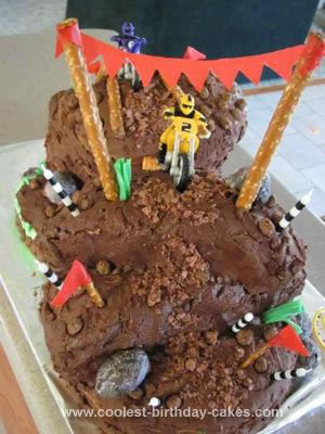 Homemade Mud Mountain Moto Cross Cake