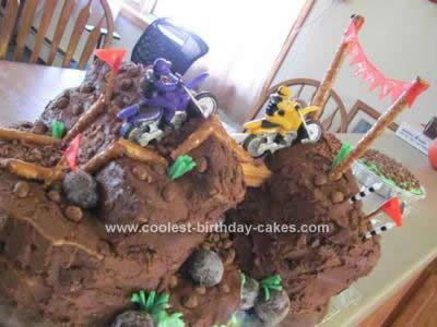 Homemade Mud Mountain Moto Cross Cake