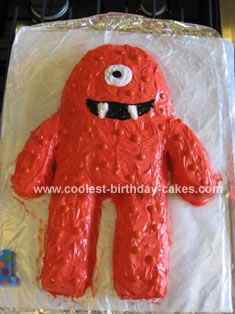 Homemade MunoBirthday Cake from Yo Gabba Gabba Cake