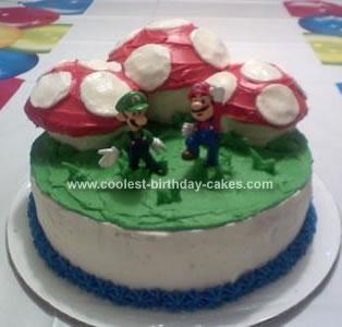 Homemade Mushroom Birthday Cake