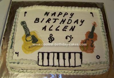 Allen's Instrument Music Birthday Cake