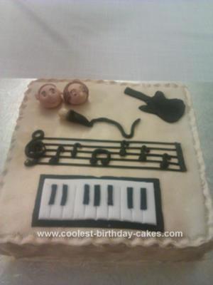 Homemade Music Cake