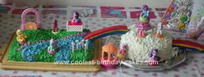 Homemade My Little Pony Birthday Cake