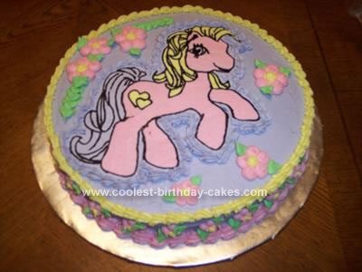 Homemade My Little Pony Cake