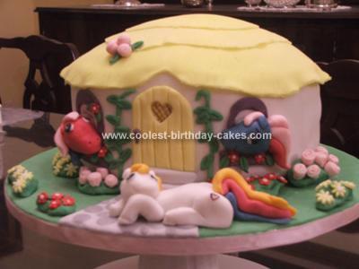 Homemade My Little Pony House Cake