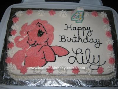 My Daughter Loves Anything Little Pony So I Made Her This Pinkie Pie Cake For 4th Birthday Used Wilton Decorating Tips