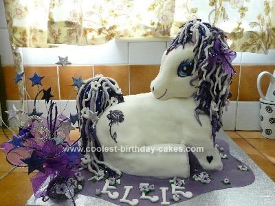 Homemade My Little Pony Purple Birthday Cake