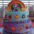 Homemade My Little Pony Rainbow Dash Cake
