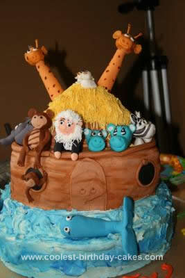 Homemade Naoh's Ark Birthday Cake