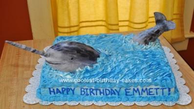 Homemade Narwhal Cake