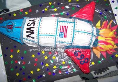 Homemade NASA Shuttle Cake
