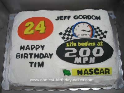 Homemade Nascar Birthday Cake