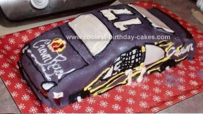 Homemade Nascar-Inspired Birthday Cake