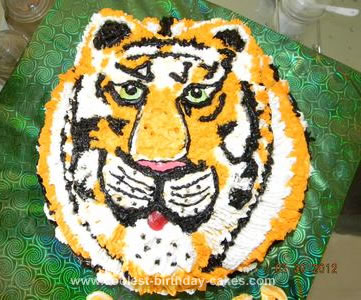 Homemade National Animal Tiger Cake