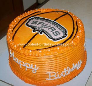 Homemade NBA Spurs Cake