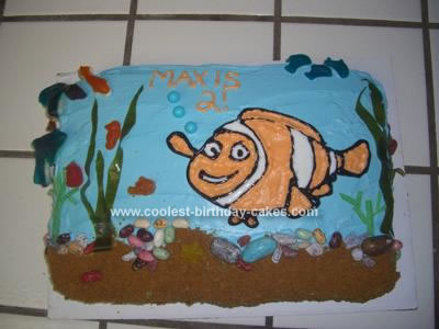 Homemade Nemo 2nd Birthday Cake