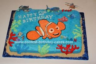 Homemade Nemo and Friends Birthday Cake