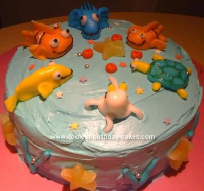 Homemade Nemo and Friends Cake