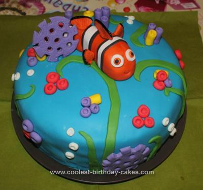 Astonishing Coolest Nemo Birthday Cake Funny Birthday Cards Online Alyptdamsfinfo